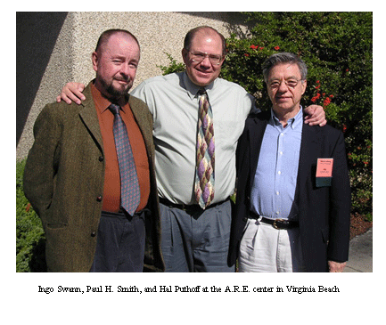 Ingo Swann, Paul H. Smith, and Hal Puthoff at the A.R.E. center in Virginia Beach